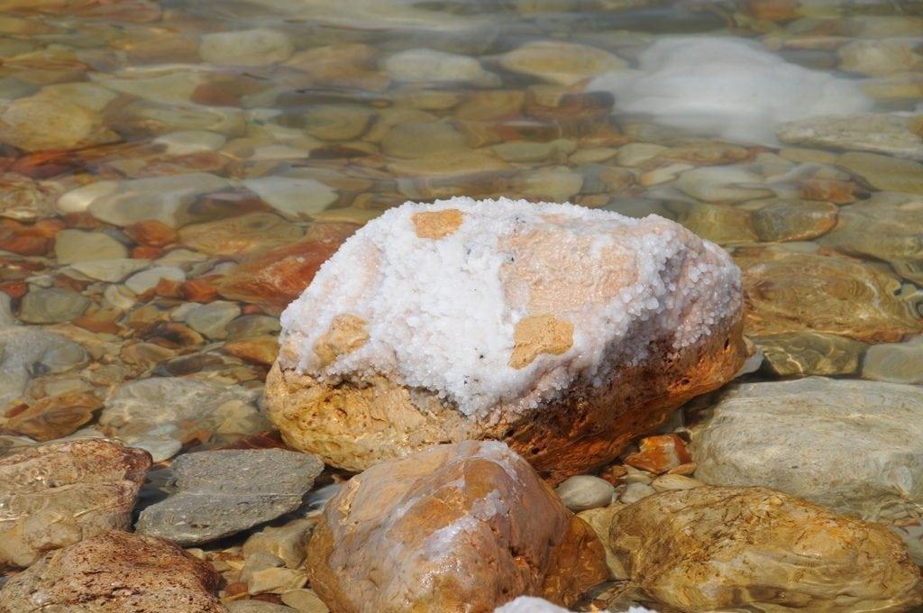 Dead Sea salt stones