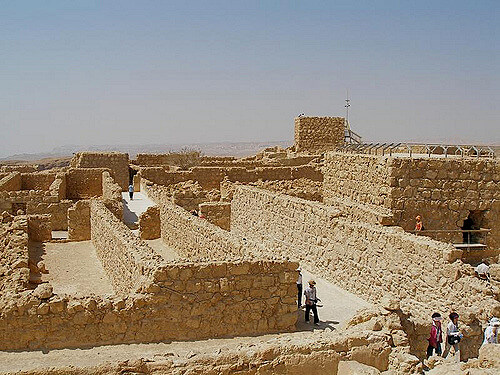 Inside Masada