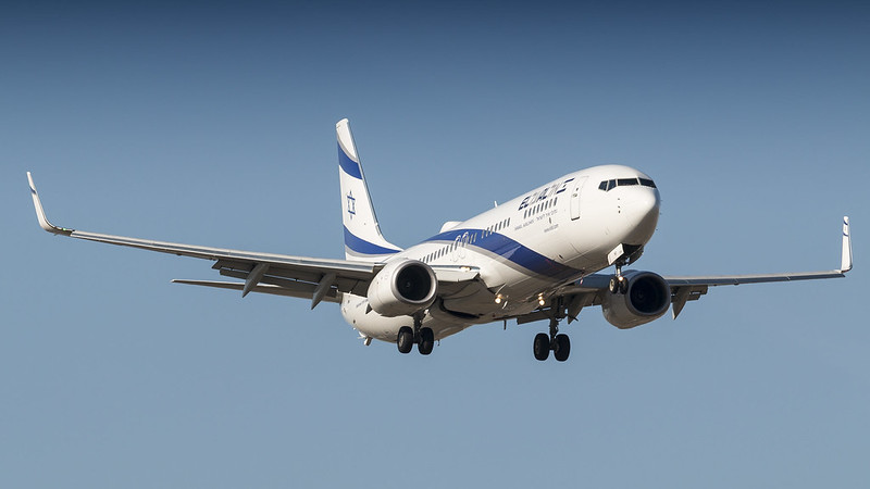 El Al Plane in the sky