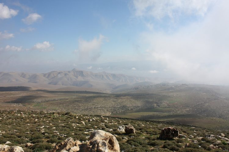 panoramic view of mountain range in Northern Israel