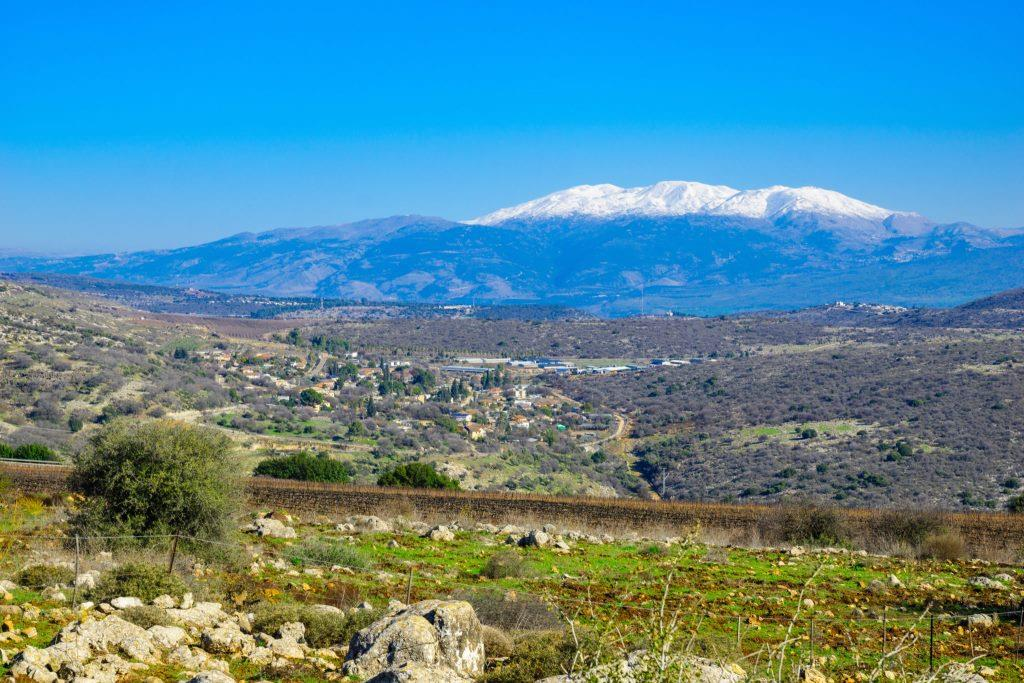 wide angle shot of Mount Hermon in Northern Israel