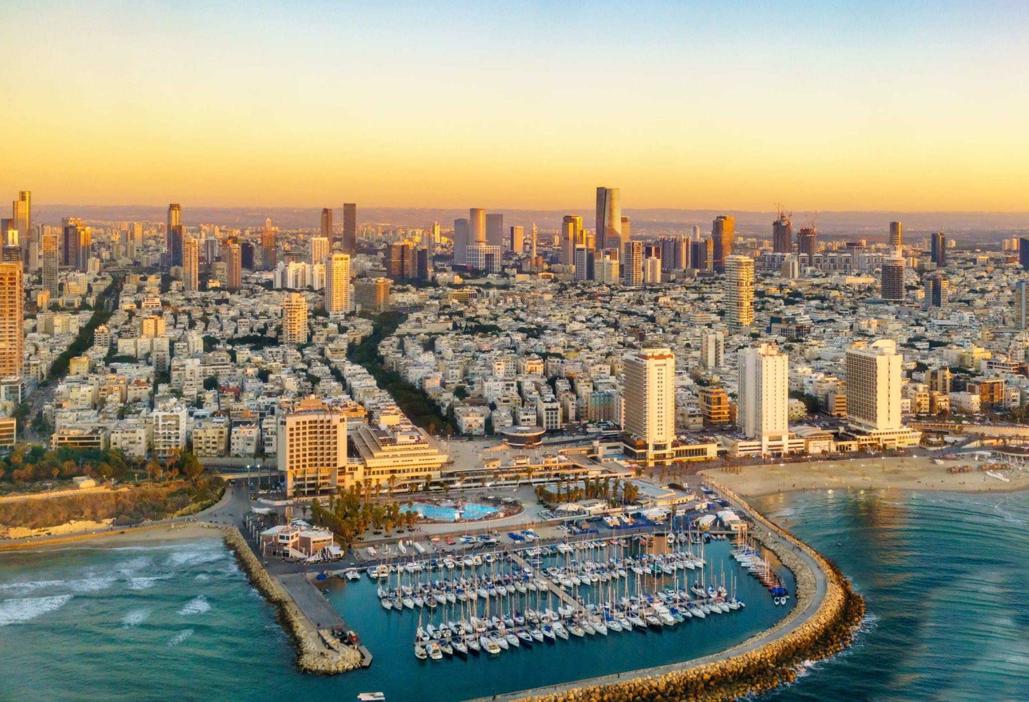 Panoramic view of the Israeli coastline